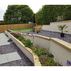 Castle Composites Twice Weathered Coping Stones 600 x 300mm - Buff