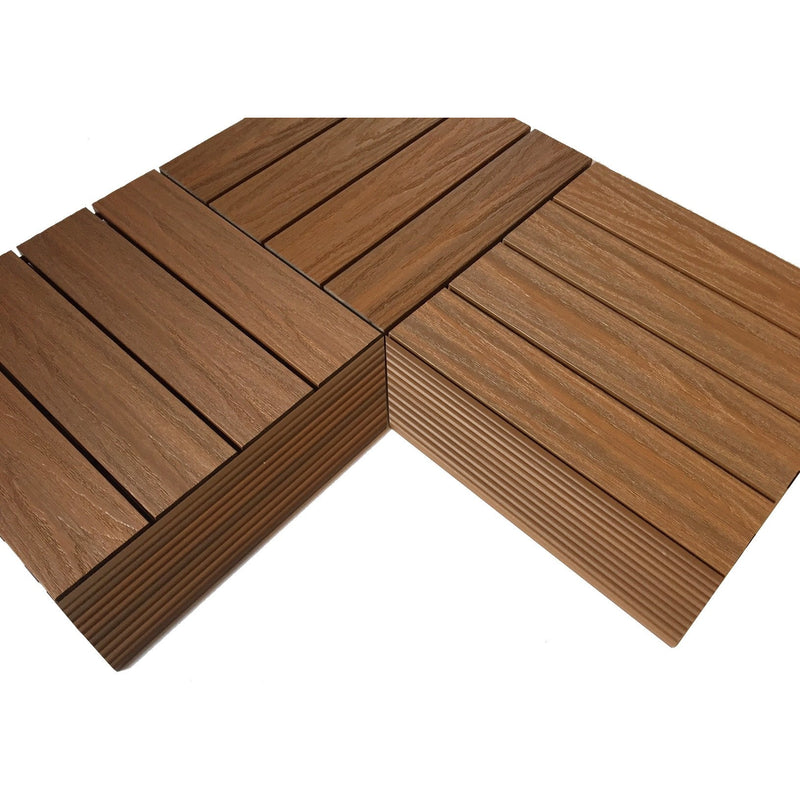Castle Composites Castlewood Internal Ramp Corner - Teak (pack of 2)