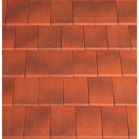 Planum Clay Interlocking Low Pitch Roof Tile 10° - Jaspee Red