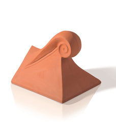 Redbank Angular Clay Scroll Finials