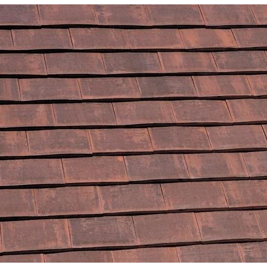 Marley Acme Double Camber Plain Roof Tile - Burnt Flame