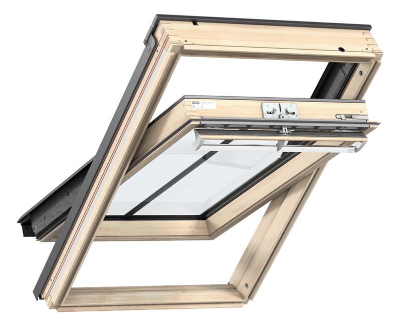 VELUX GGL MK08 SD5W3 Pine Centre-Pivot Conservation Window (78 x 140 cm)