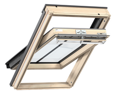 VELUX GGL CK04 SD5W3 Pine Centre-Pivot Conservation Window (55 x 98 cm)