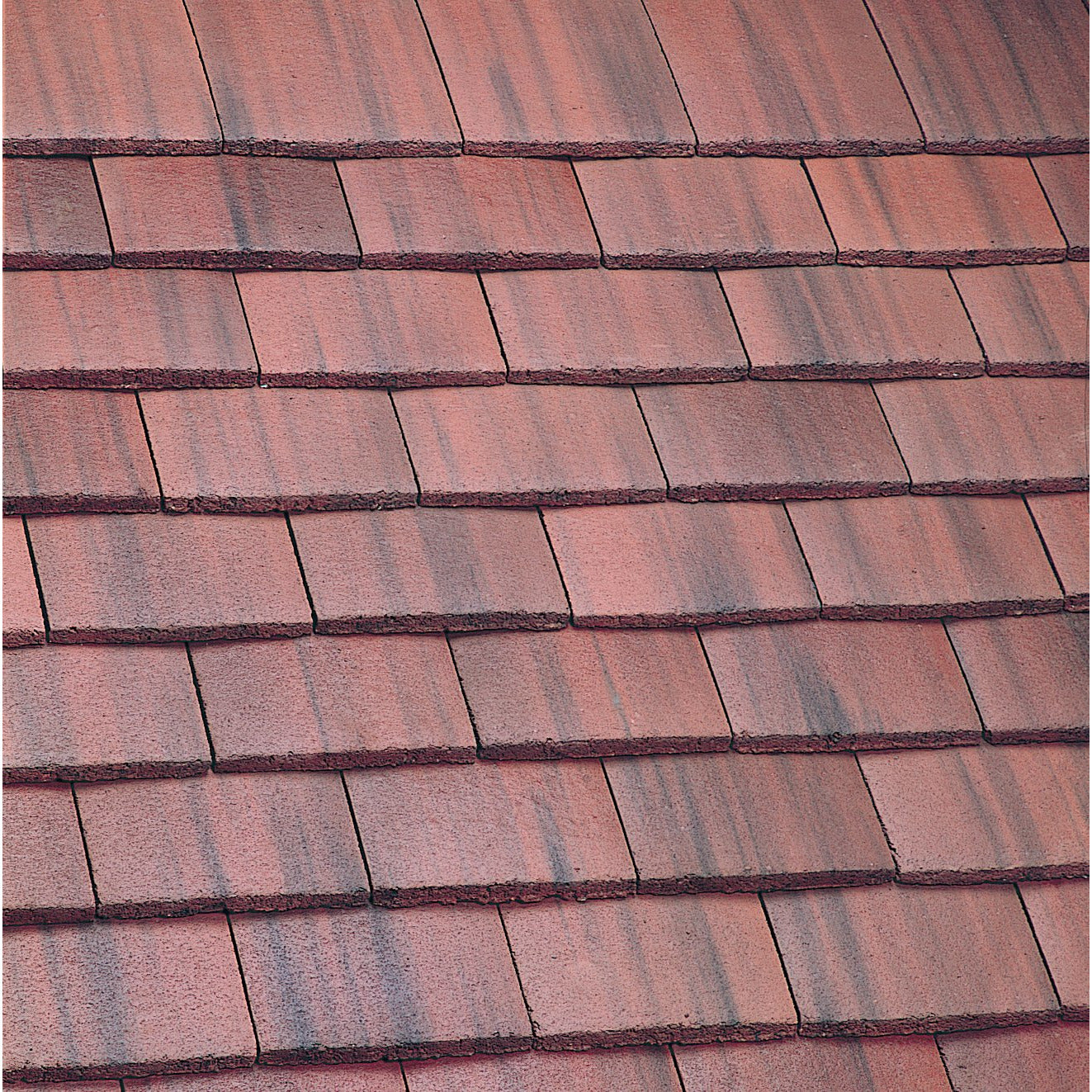 Marley Concrete Plain Roof Tile - Old English Dark Red ...