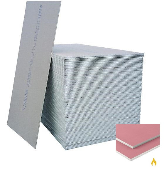 Knauf Fire Panel Plasterboard Square Edge 2.4m x 1.2m x 12.5mm (PALLET of 60)