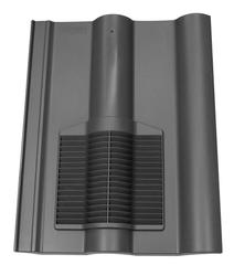 Marley Double Roman Tile Vent - Grey
