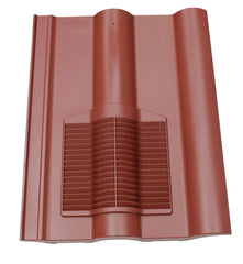 Marley Double Roman Tile Vent - Dark Red