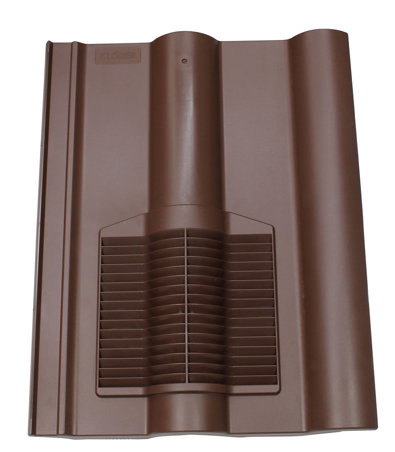 Klober Profile-Line® Double Roman Tile Vent - Brown