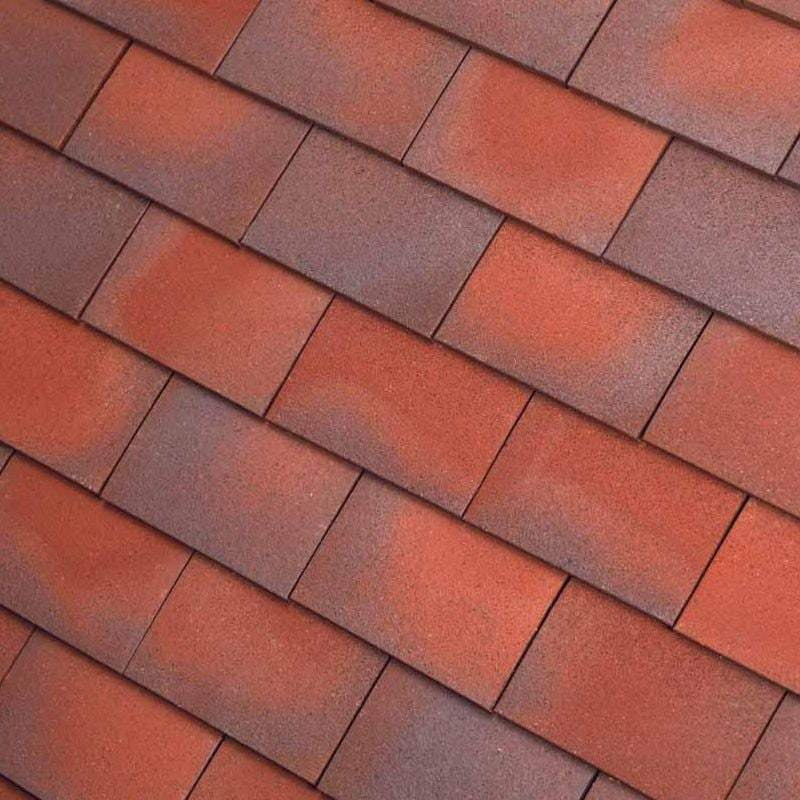 Dreadnought Clay Plain Roof Tiles - Red Blue (sandfaced)