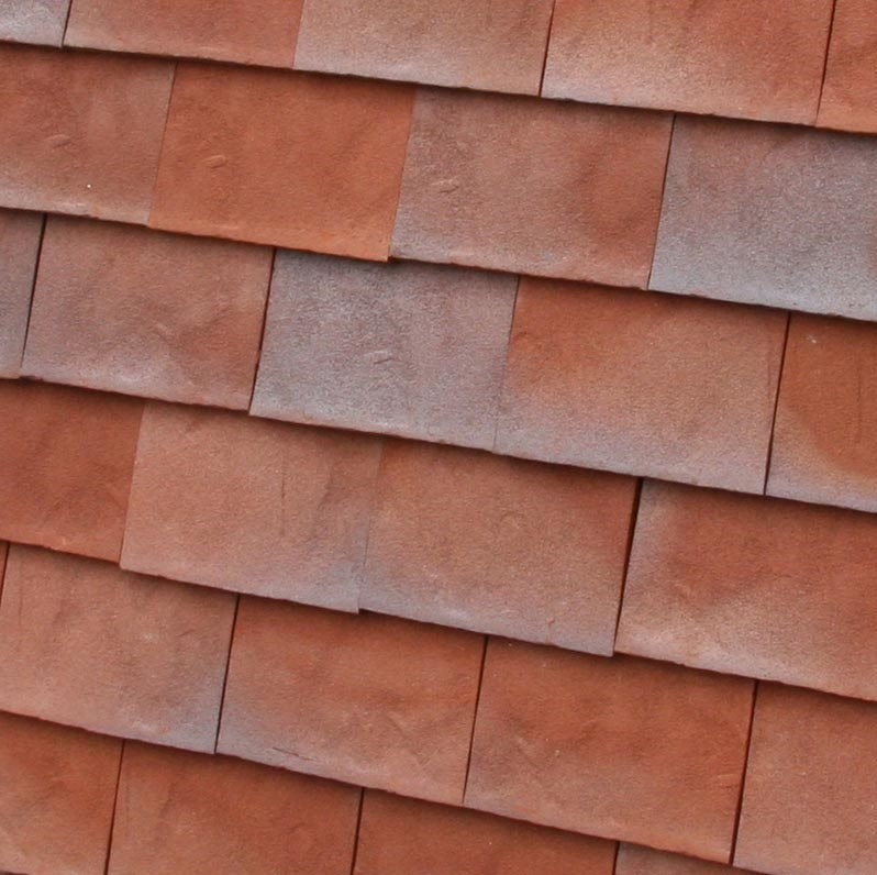 Dreadnought Clay Plain Roof Tiles - Rustic Red Blue Blend