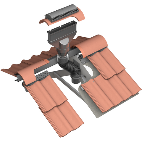 Marley Concrete Ridge Vent Terminal Roofing Outlet