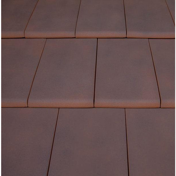 Planum Clay Interlocking Low Pitch Roof Tile 10° - Rustic
