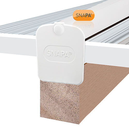 SNAPA® PVC Lean-to Glazing Bar with End Cap