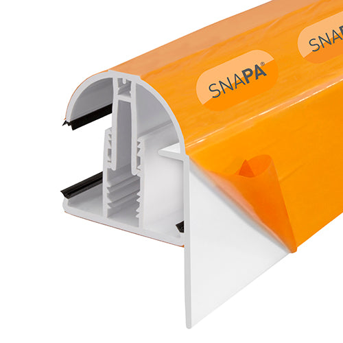 SNAPA® PVC Lean-to Gable Bar with End Cap
