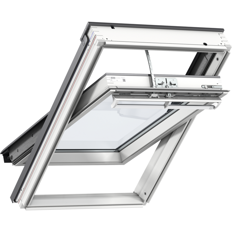 VELUX GGL SK01 206630 Triple Glazed White Painted INTEGRA® SOLAR Window (114 x 70 cm)