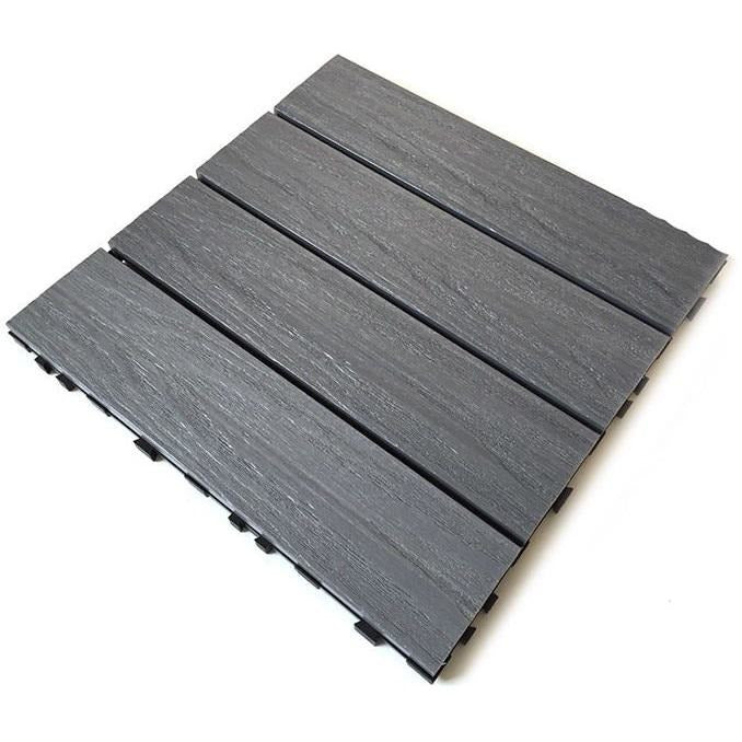 Castle Composites Castlewood Decking Tiles - Silver Grey (300 x 300mm)