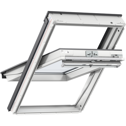 VELUX GGU CK04 0070Q Enhanced Security White Centre-Pivot Roof Window (55 x 98 cm)