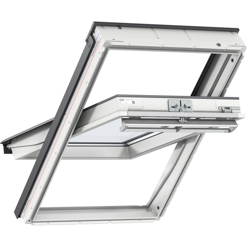 VELUX GGU UK04 0066 White Polyurethane Centre-Pivot Roof Window (134 x 98 cm)