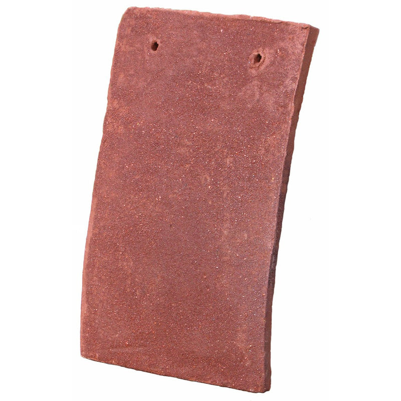 Tudor Traditional Handmade Clay Plain Roof Tile - Red Antique