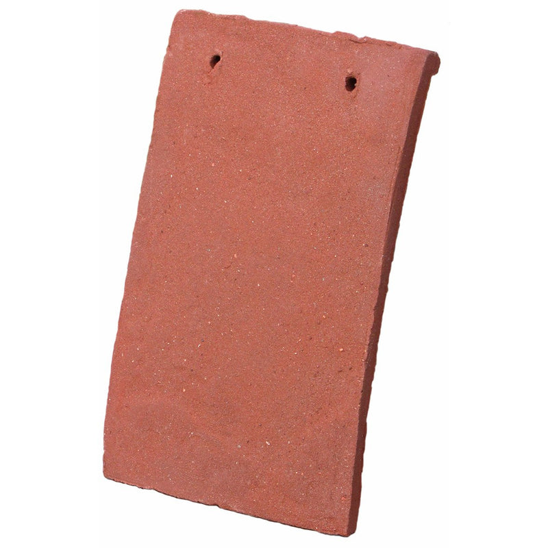 Tudor Traditional Handmade Clay Plain Roof Tile - Sussex Red