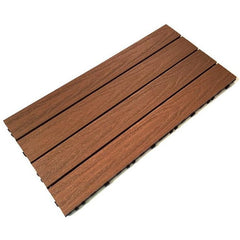 Castle Composites Castlewood Decking Tiles - Teak (600 x 300 mm)