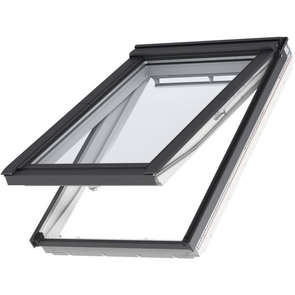 Velux gpl white painted timber top hung windows roofing for Outlet velux