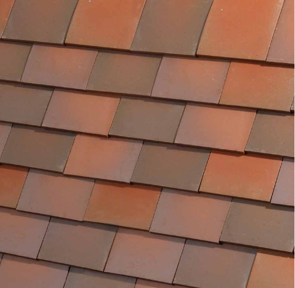 Dreadnought Clay Plain Roof Tiles - Trafalgar Blend (sandfaced)