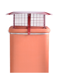 Brewer Square Birdguard Metal Chimney Cowl - Gas