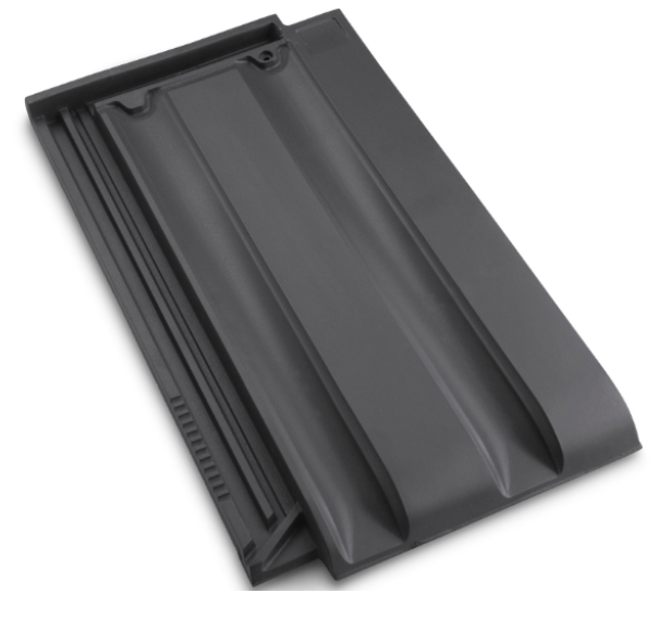 Innova Clay Interlocking Low Pitch Roof Tile 10° - Slate Grey