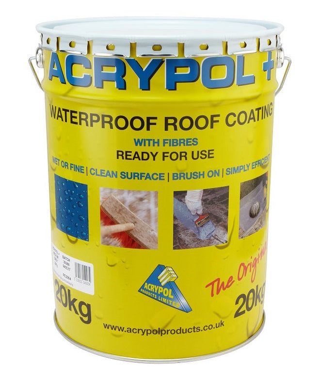 Acrypol + Waterproof Roof Coating 20kg - Black