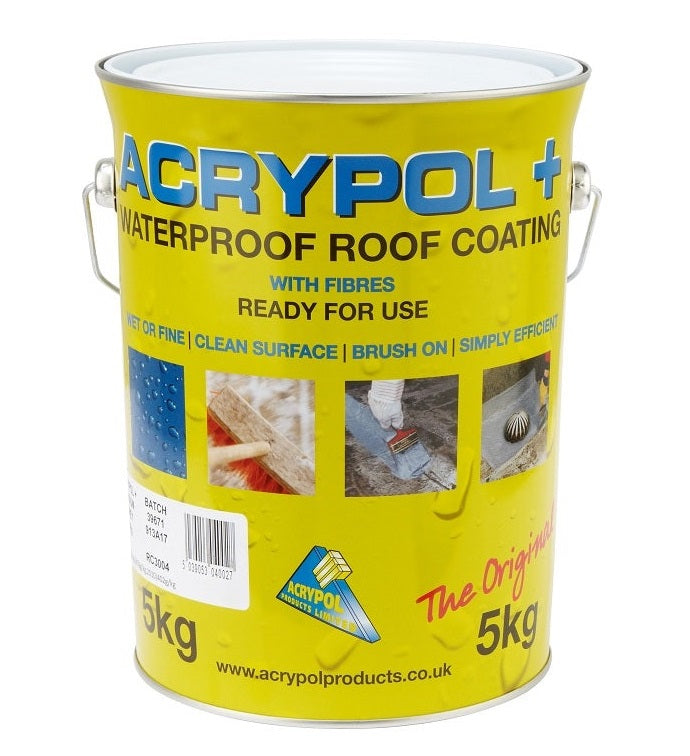 Acrypol + Waterproof Roof Coating 5kg - Solar White