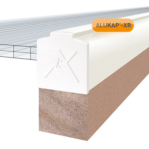 ALUKAP®-XR Aluminium Gable Bar with End Cap - 60mm