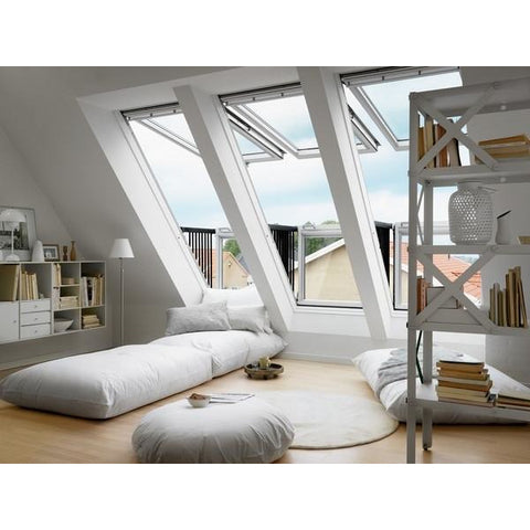 Velux Gdl Pk19 Sk0l322 White Painted Cabrio Balcony 302 X 252 Cm