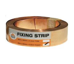 Copper Fixing Strip for Lead (50mm x 20m Roll)