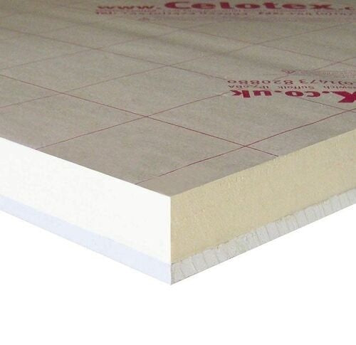 Celotex PL4000 Insulated Plasterboard - 2400mm x 1200mm x 72.5mm