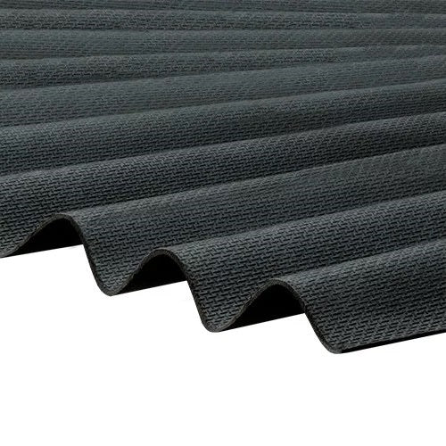 Corrapol-BT - Corrugated Bitumen Roof Sheet - Black (2000 x 930mm)