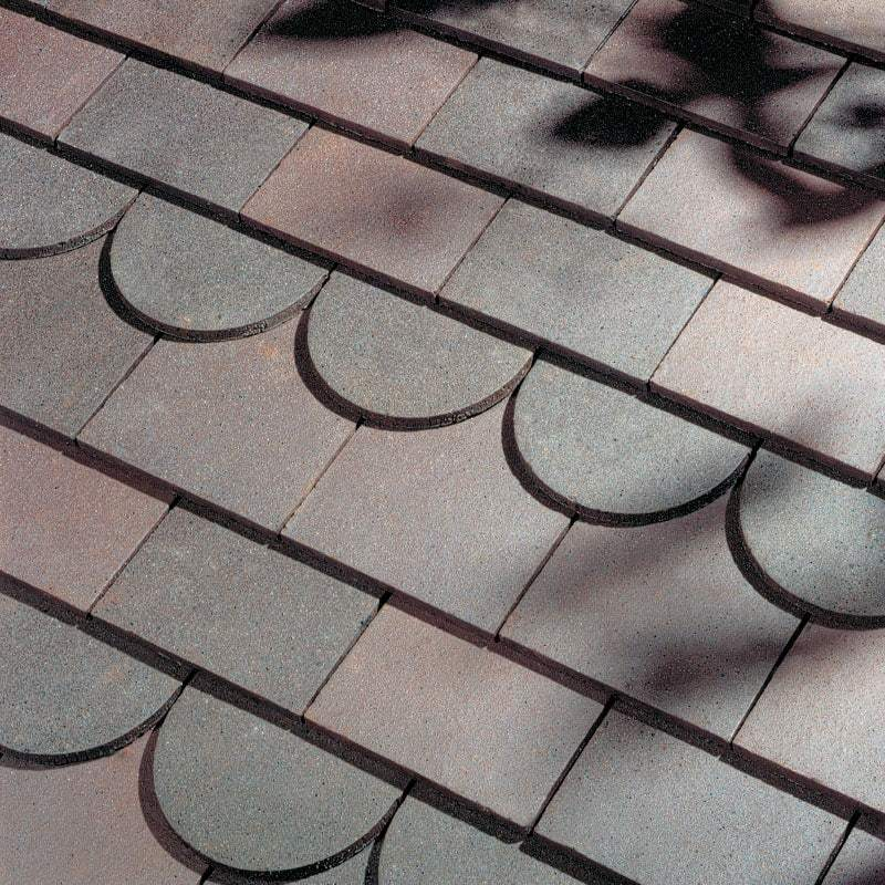 Dreadnought Clay Plain Roof Tiles - Dark Heather (sandfaced)