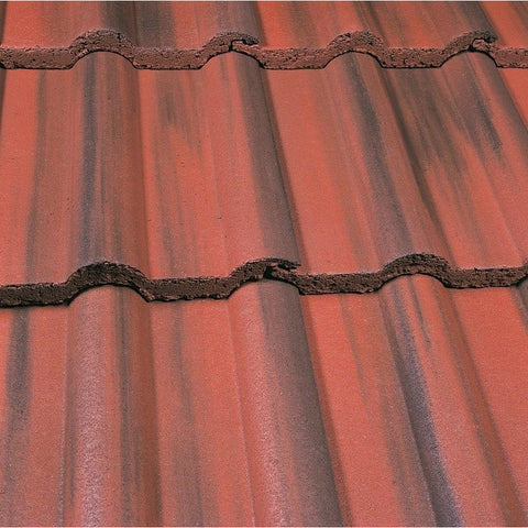 Marley Double Roman Roof Tile Old English Dark Red