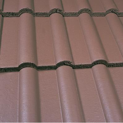 Marley Double Roman Roof Tile - Smooth Brown