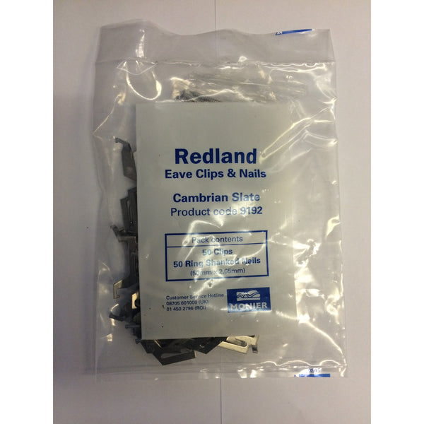 Redland Cambrian Eave Clips Amp Nails Roofing Outlet