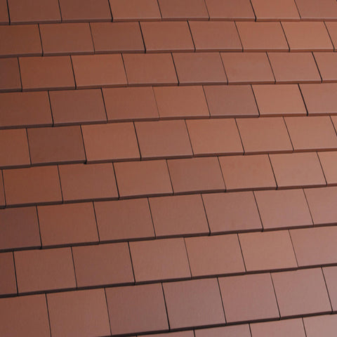 Marley Acme Single Camber Plain Roof Tile - Red Smooth