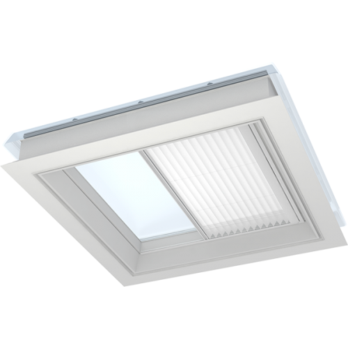 VELUX FMG Flat Roof Window Electric Pleated Blinds