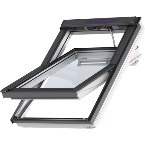 Velux ggu fk04 007030 white integra solar window for Outlet velux