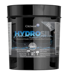 Cromar Hydrosil ProGrade 100% Silicone Liquid Roof Coating - Grey 3.78Ltr
