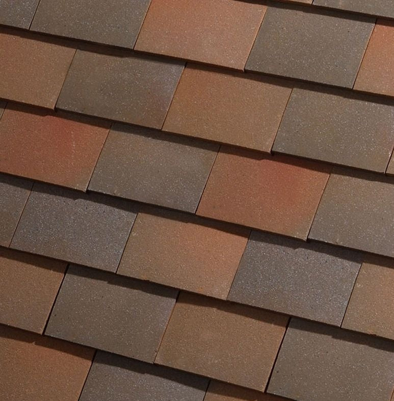 Dreadnought Clay Plain Roof Tiles - Collingwood Blend (sandfaced)