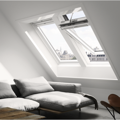VELUX GGL UK08 206630 Triple Glazed White Painted INTEGRA® SOLAR Window (134 x 140 cm)