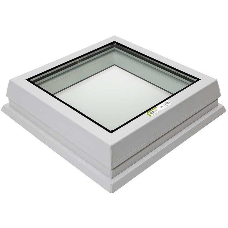 RAYLUX Flat Glass with PVC 150mm Vertical Upstand - White