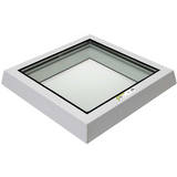 RAYLUX Flat Glass Top Cover to Fit Builders Upstand - White