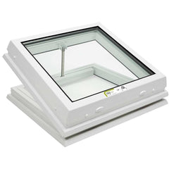 RAYLUX Flat Glass Electric Opening with PVC 150mm Vertical Upstand - White (including Wall Switch)