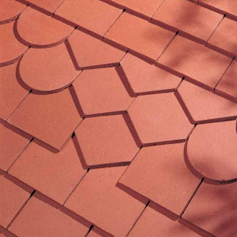 Dreadnought Clay Plain Roof Tiles - Red (smoothfaced)